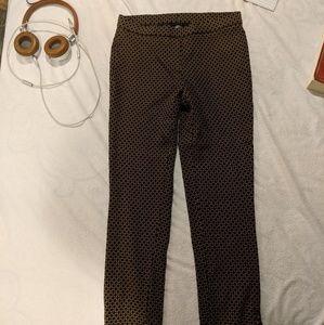 Black/gold work pants.